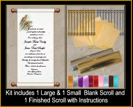 Scroll Invitations And Seating Charts For Weddings Birthdays And